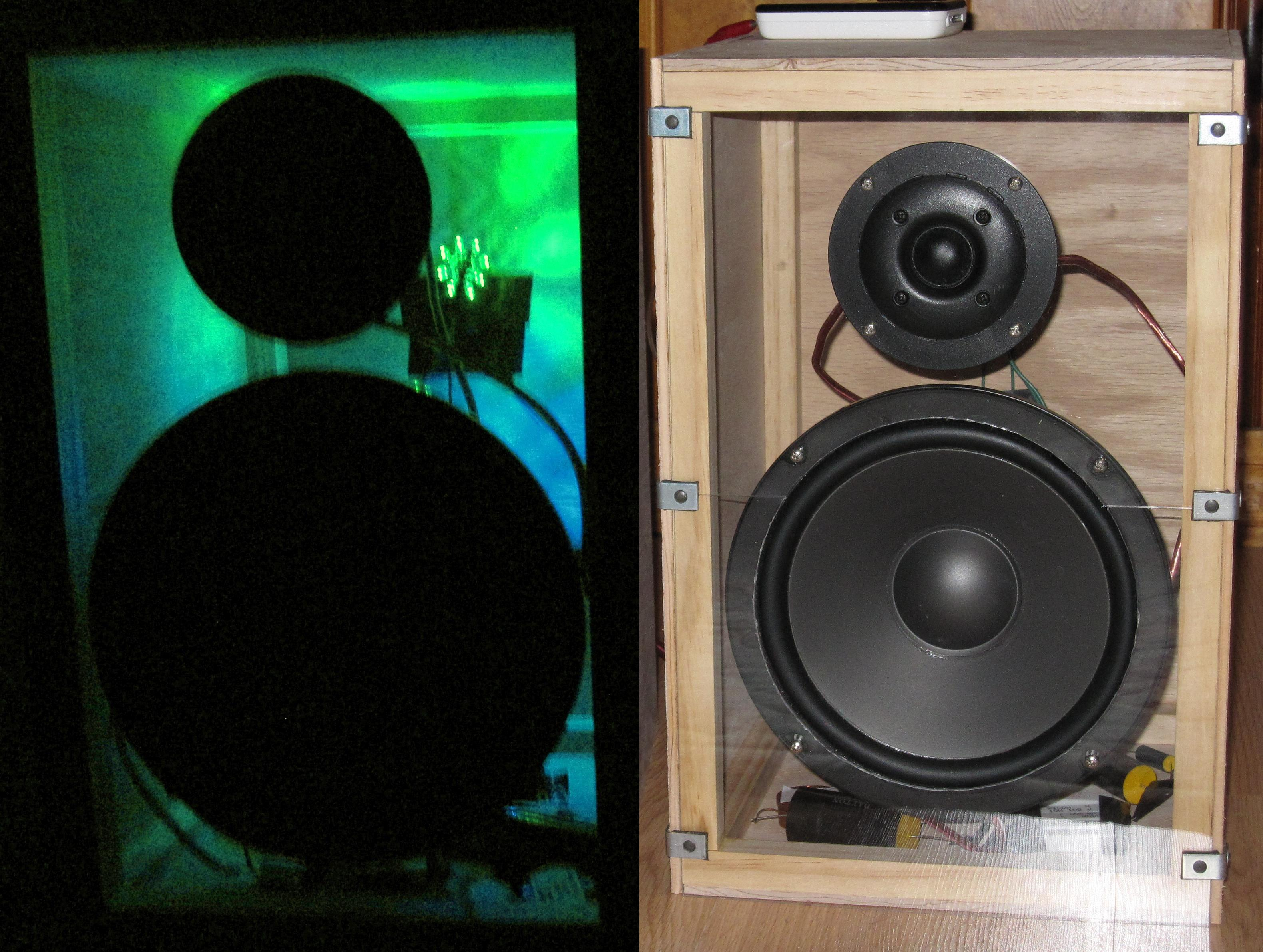 Stereo Speakers with Synched LED Lighting