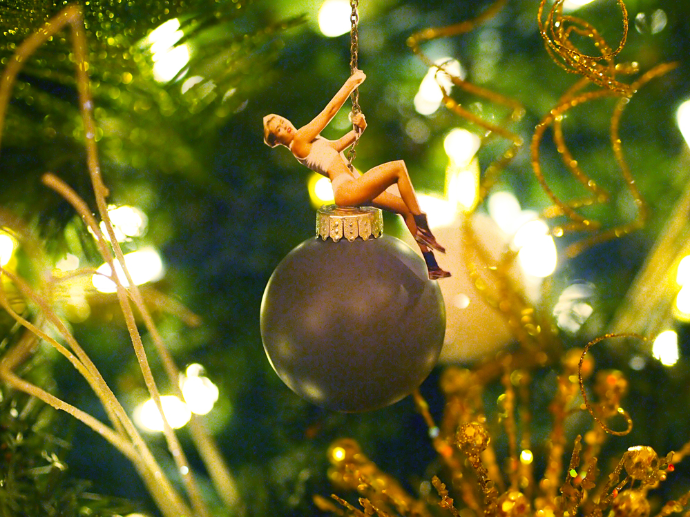 Wrecking ball ornament