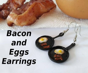 Skillet of Bacon 'n' Eggs Earrings