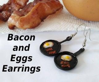 Skillet of Bacon 'n' Eggs Earrings