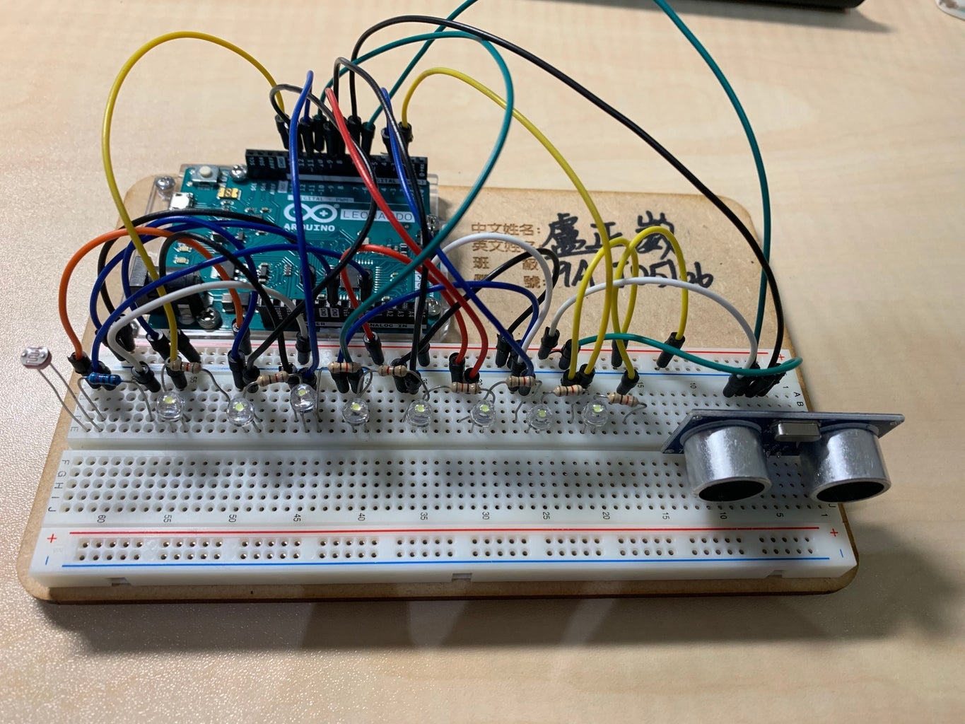 Assembling the Parts (onto the Breadboard)