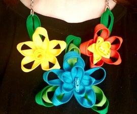 Zipper Flower Necklace