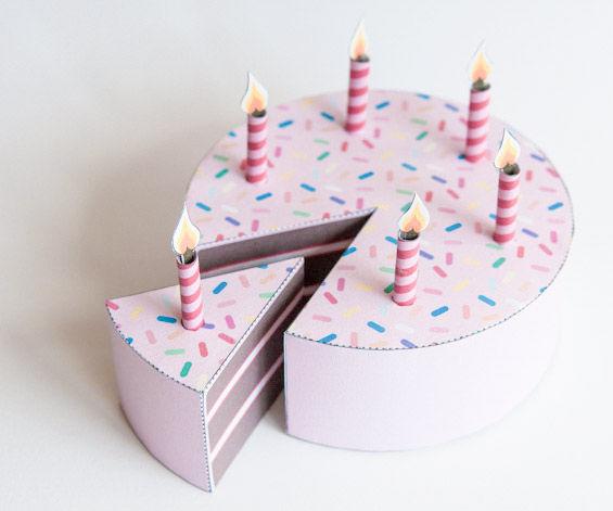 Paper Birthday Cake
