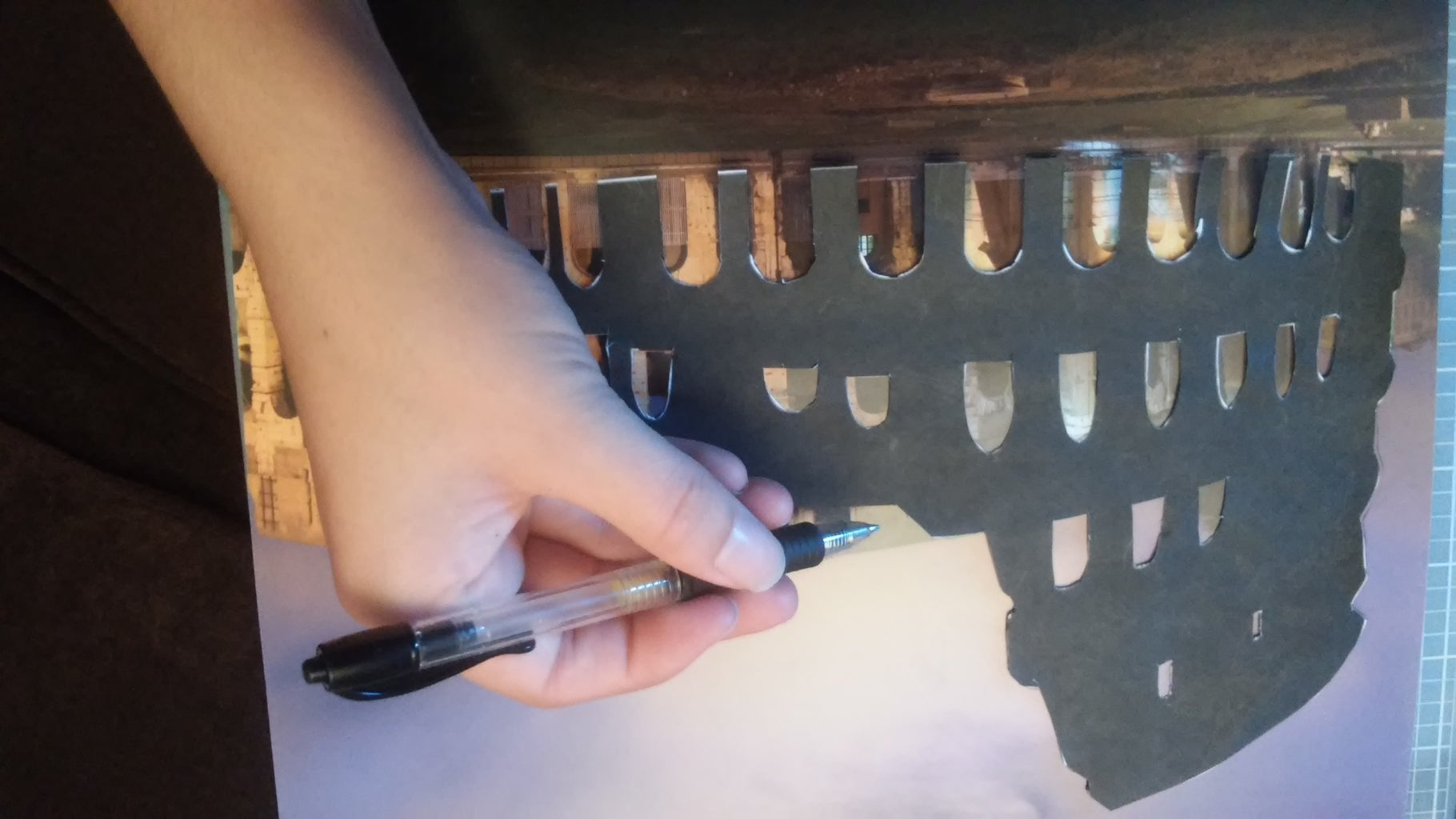 Trace Your Stencil Onto the Drawing