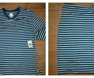 Easy T-shirt Refashion to Pencil Skirt
