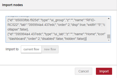 Create a Node-RED Flow to Read Your RFID Tag and Color Sensor