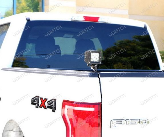Install Ford F-150 Truck Bed Edge-Mounted LED Pod Lights