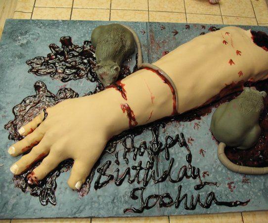 Severed Arm Cake