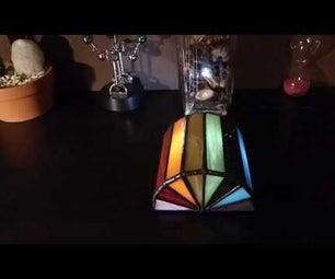 "Tiffany ""Light Fan"" LED Ornament"