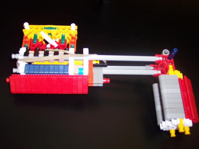 Simple pump-action knex gun