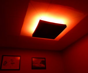RGB LED Ceiling Mood Light With Hacked IR Remote Control