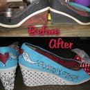 DIY Custom Rockabilly Wedding Shoes