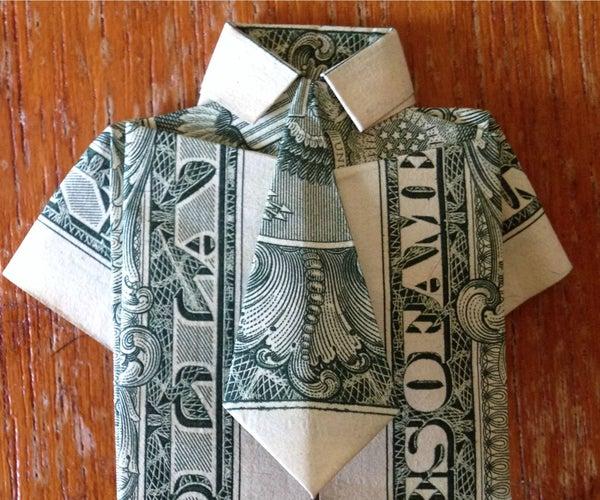 Dollar Bill Origami- Shirt and Tie