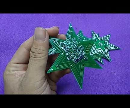 How to Make a Led Flash / Flasher / Blinking LED Lights Star Beauty With Simple Circuit.