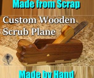 木制擦洗飞机从废料
