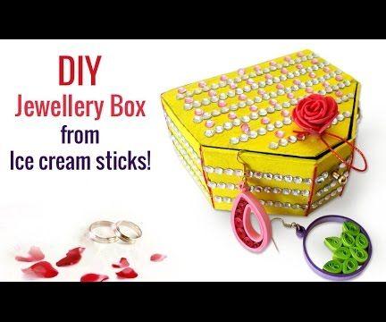 Easy Recycled Crafts : How to Make Ice Cream Sticks Handmade Jewellery Box