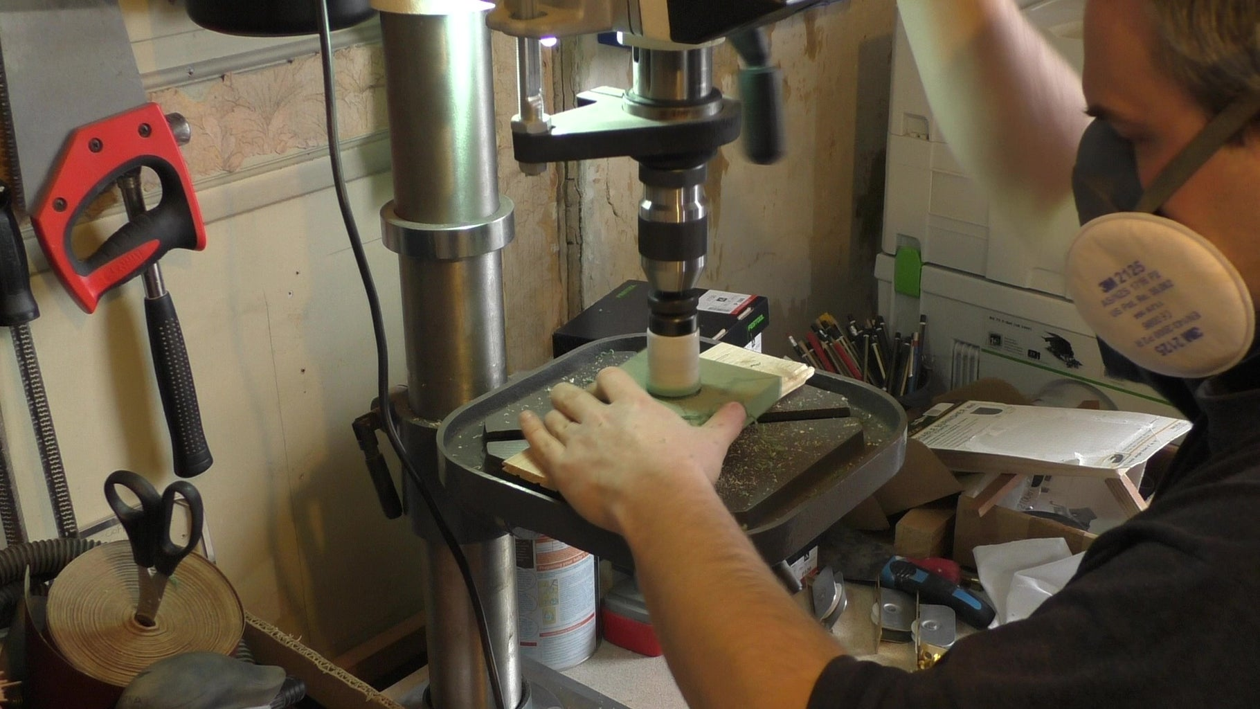 Drill the Vacuum Face and Test Fit