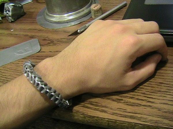 Braided (looking) Duct Tape Bracelet