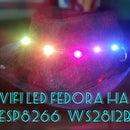 WiFi Led Fedora Hat (ESP8266 + WS2812b)