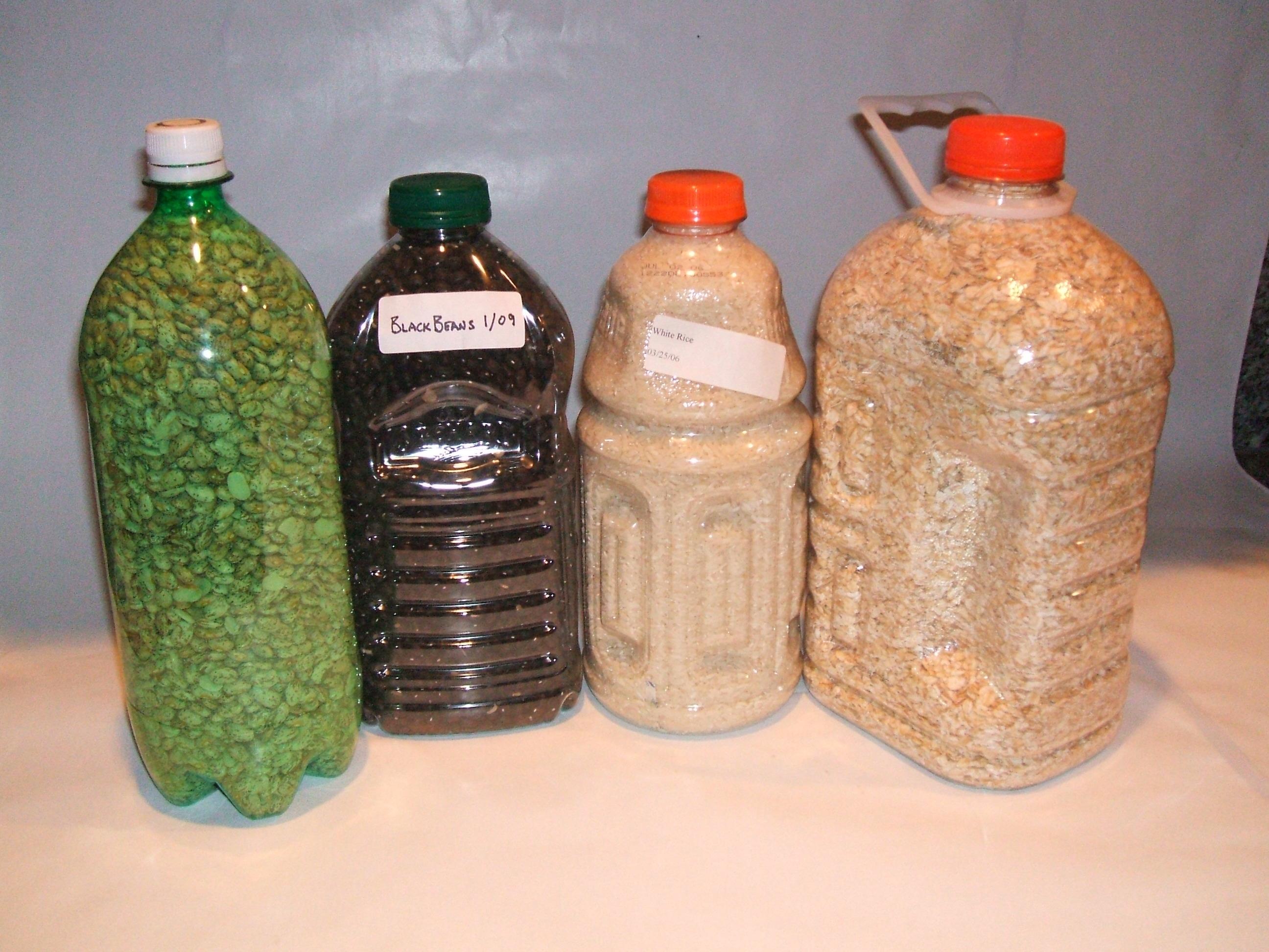 Storing Bulk Dry Foods in PETE Bottles using Oxygen Absorbers