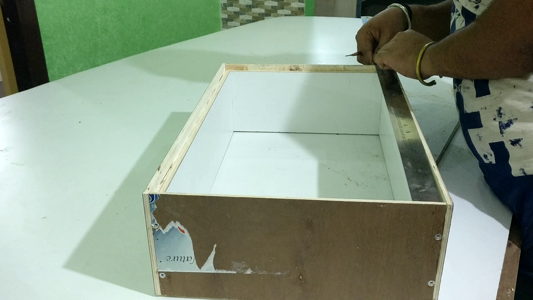 Cutting Down the Draw Bottom and Fixing Them