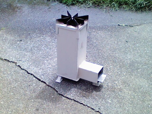 Space Shuttle Rocket Stove :)