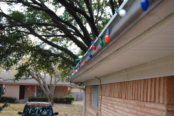 Hanging Christmas Lights Made Easy