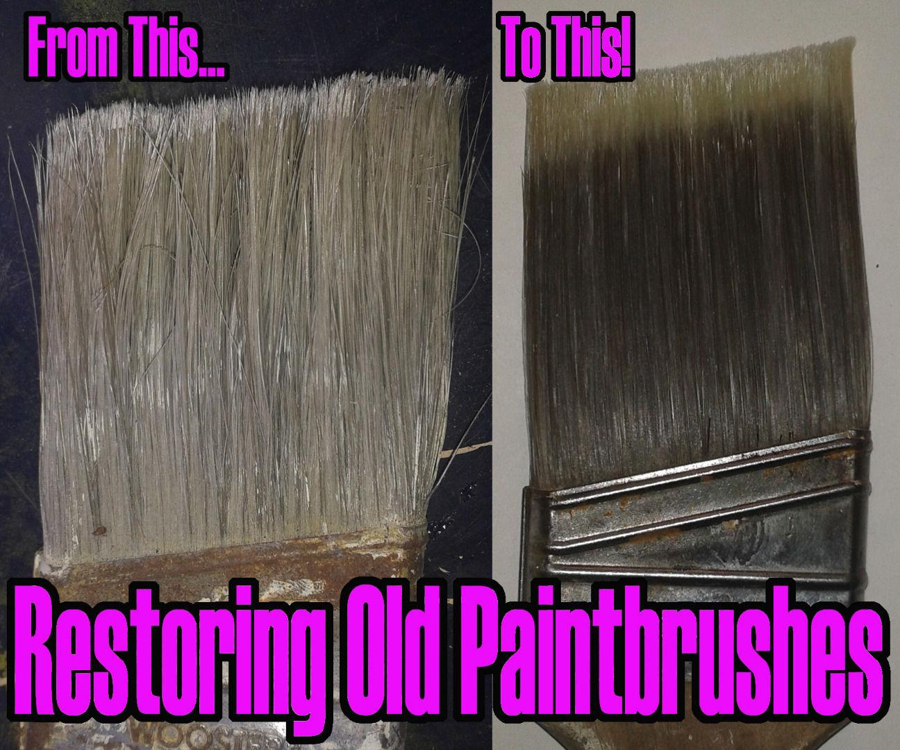 Restoring Old Paintbrushes