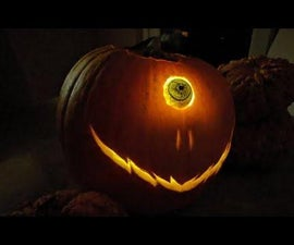 Halloween Pumpkin With a Moving Animatronic Eye   This Pumpkin Can Roll Its Eye!