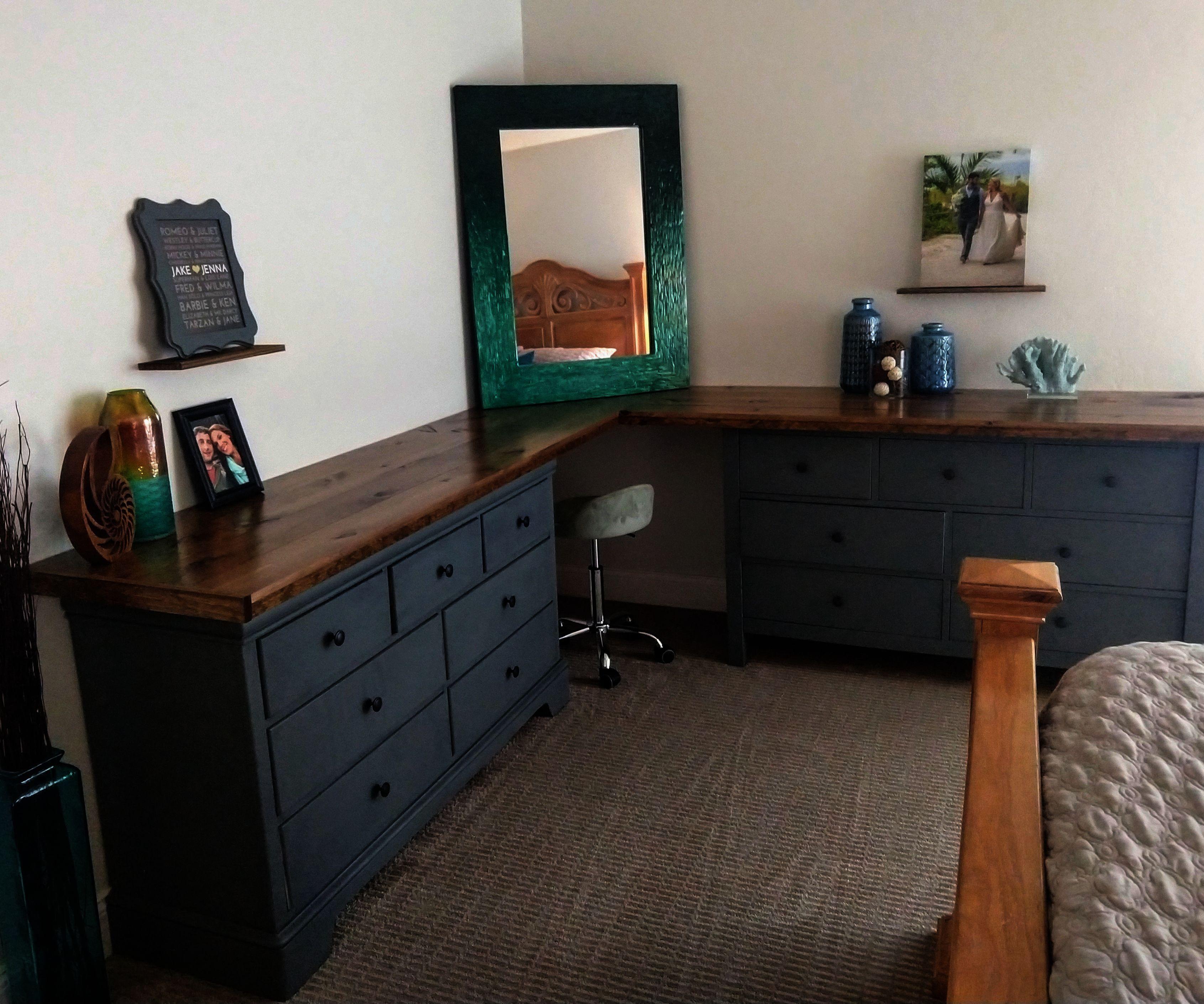 Dresser Flip to Makeup Corner Table