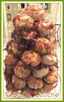 Croquembouche (Cream Puff Tower) with Lemon Curd Mousse