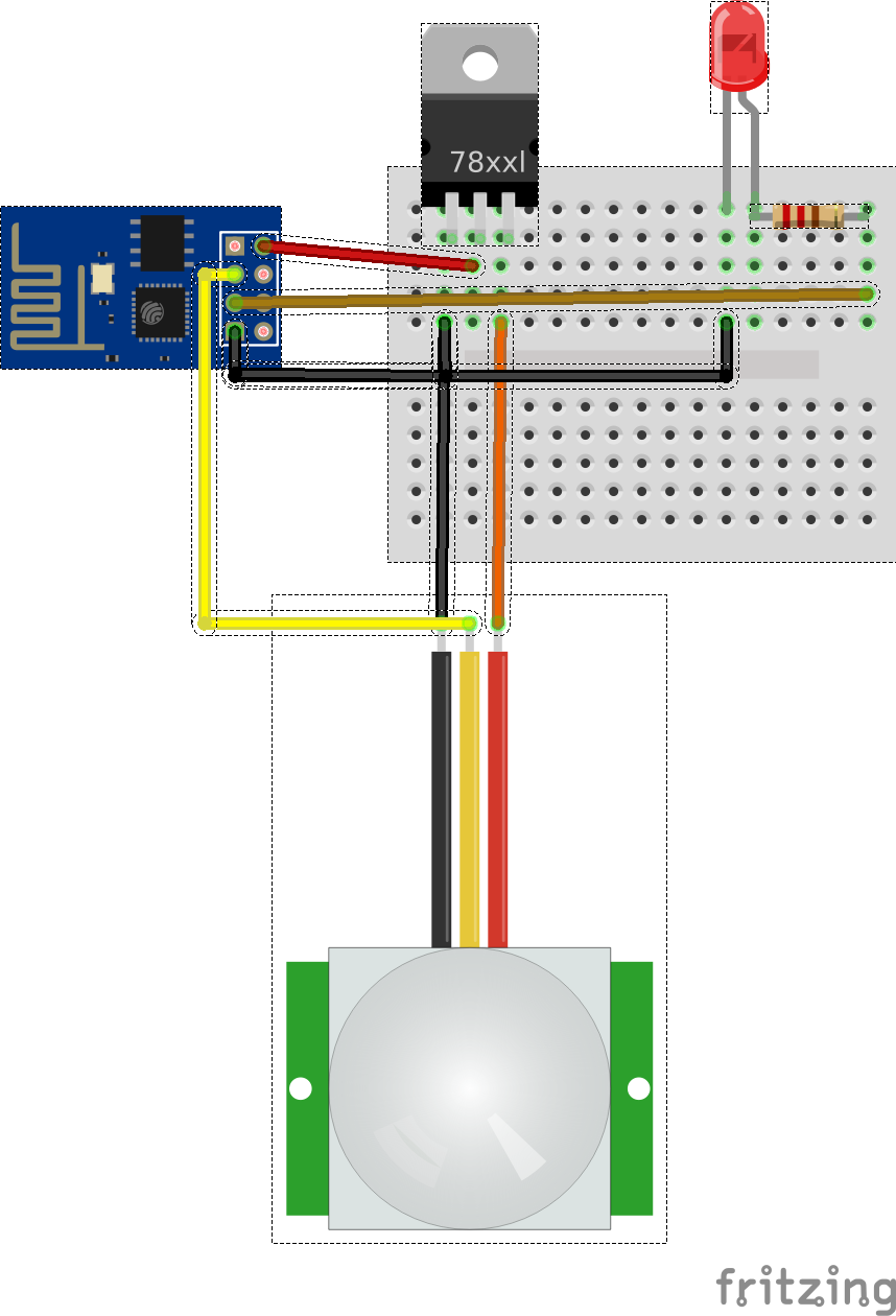 Motion Sensor Is Separated From the LED Light