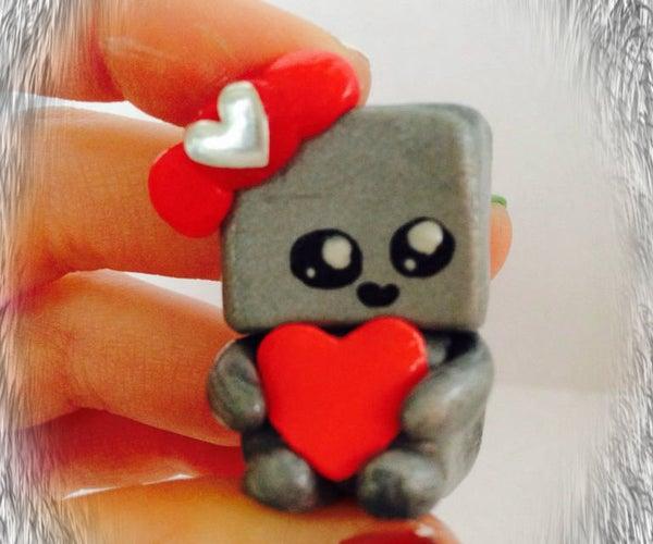 Cute Little Clay Robot