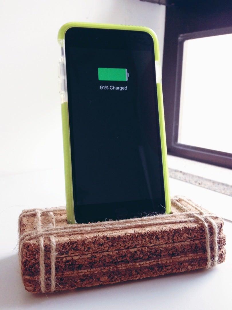 Cork Board Phone Dock