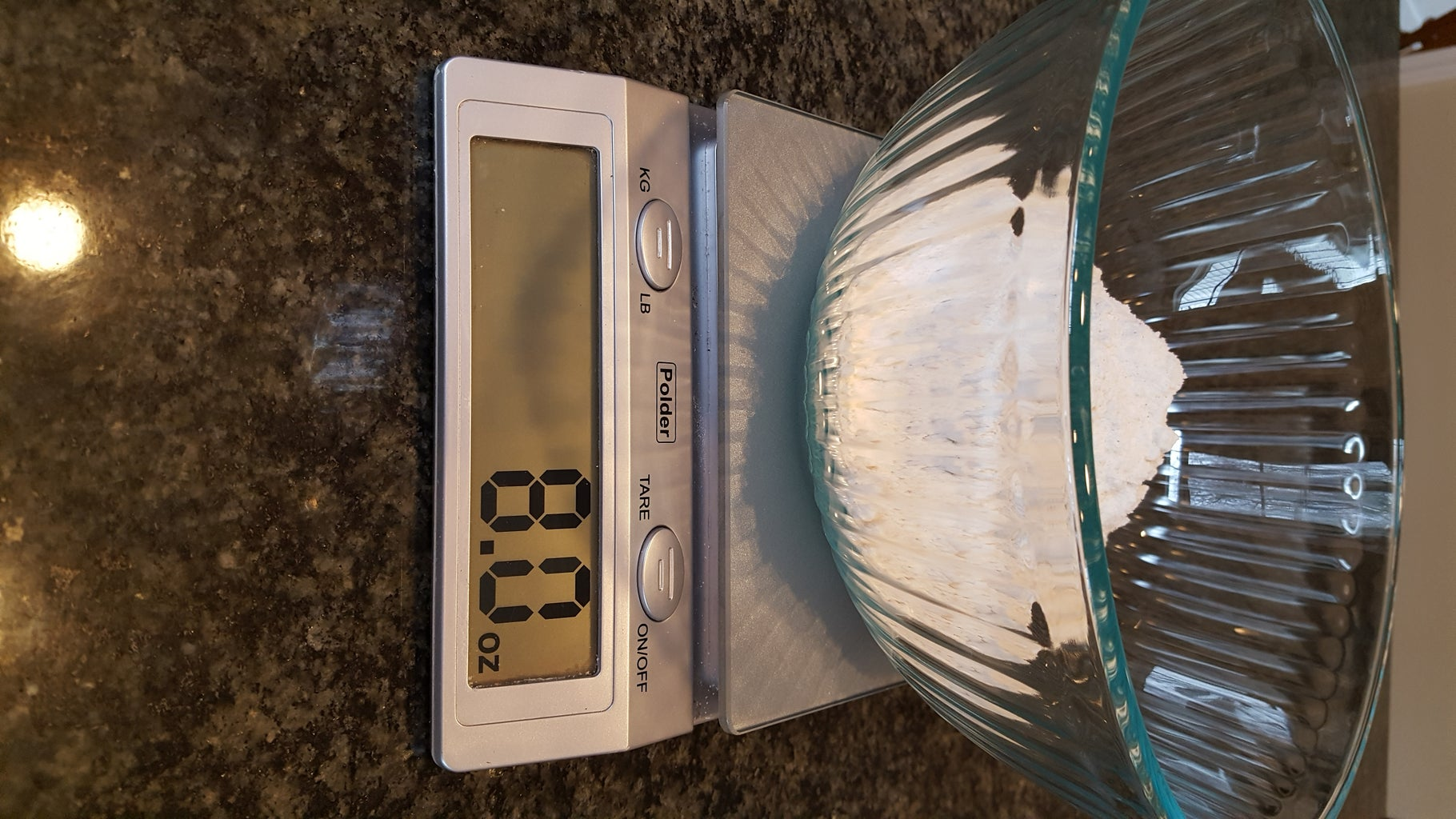 Measure Flour and Combine Dry Ingredients
