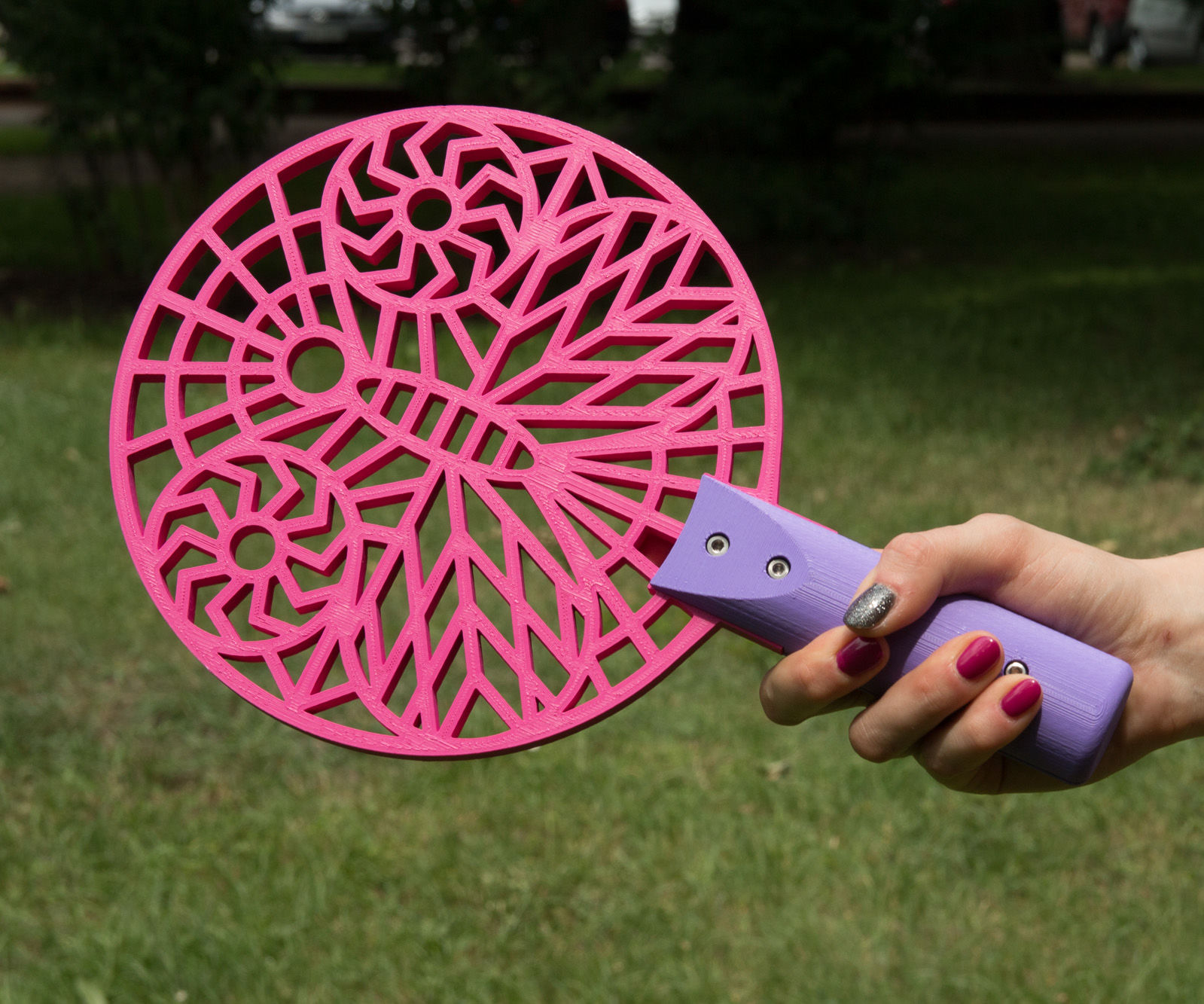 3D Printed Beach Tennis Paddles + Source Files