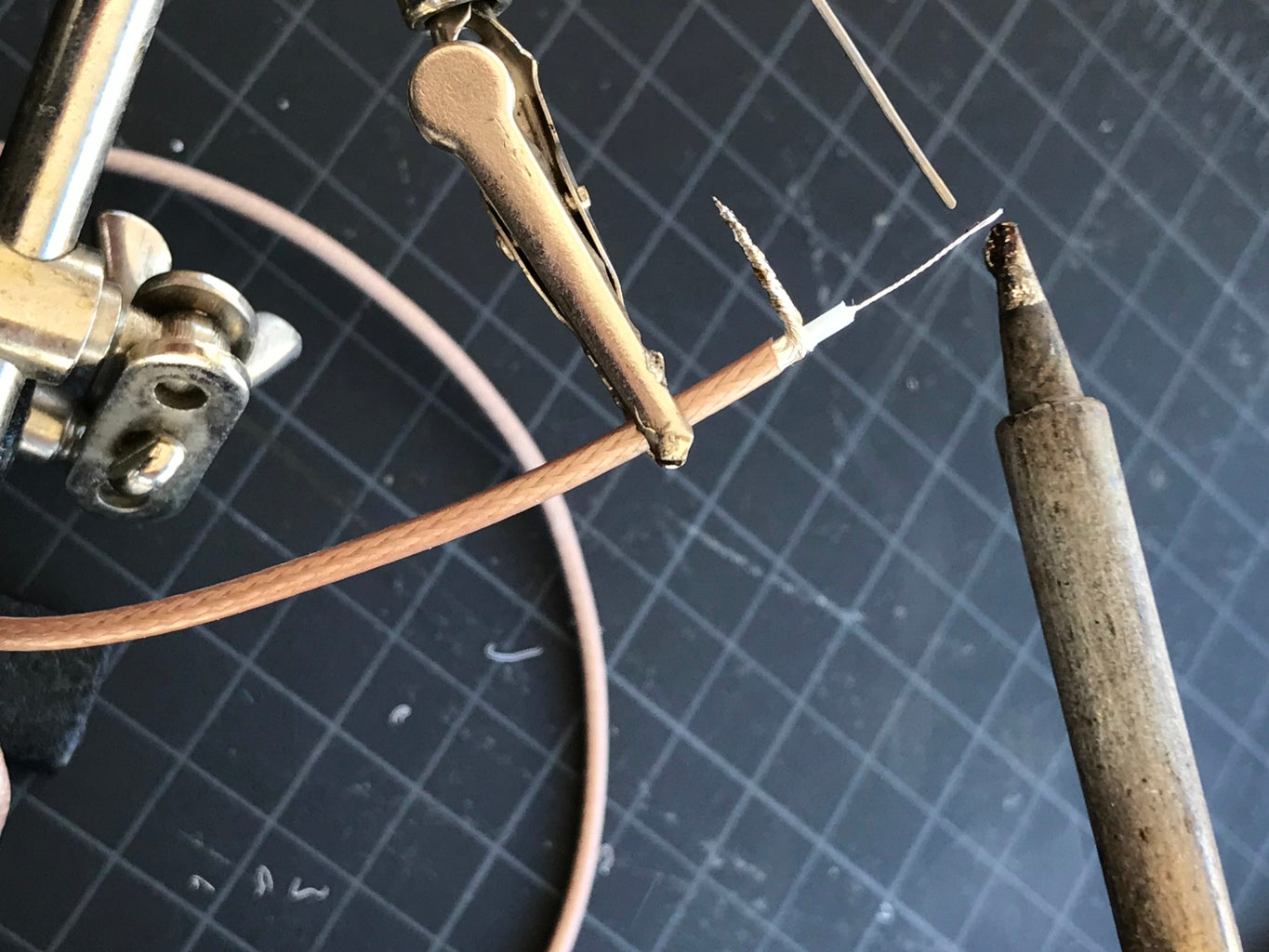 Strip and Tin Cable and Cut Wires to Length