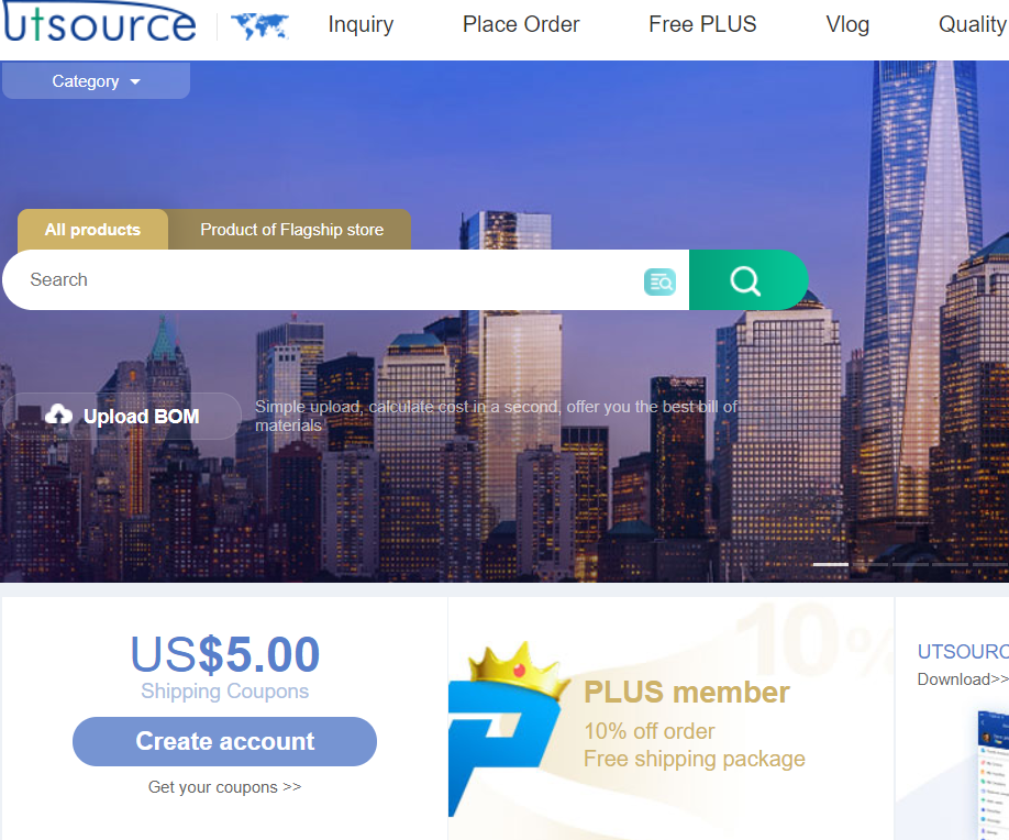 One of the Best Electrical & Electronics Components Distributor – UTSOURCE.NET
