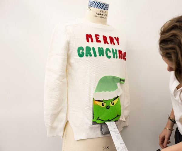 Merry Grinchmas Sweater, Thermal Printer + GemmaM0