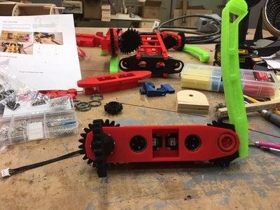 Building the Servo Tray Upper Leg