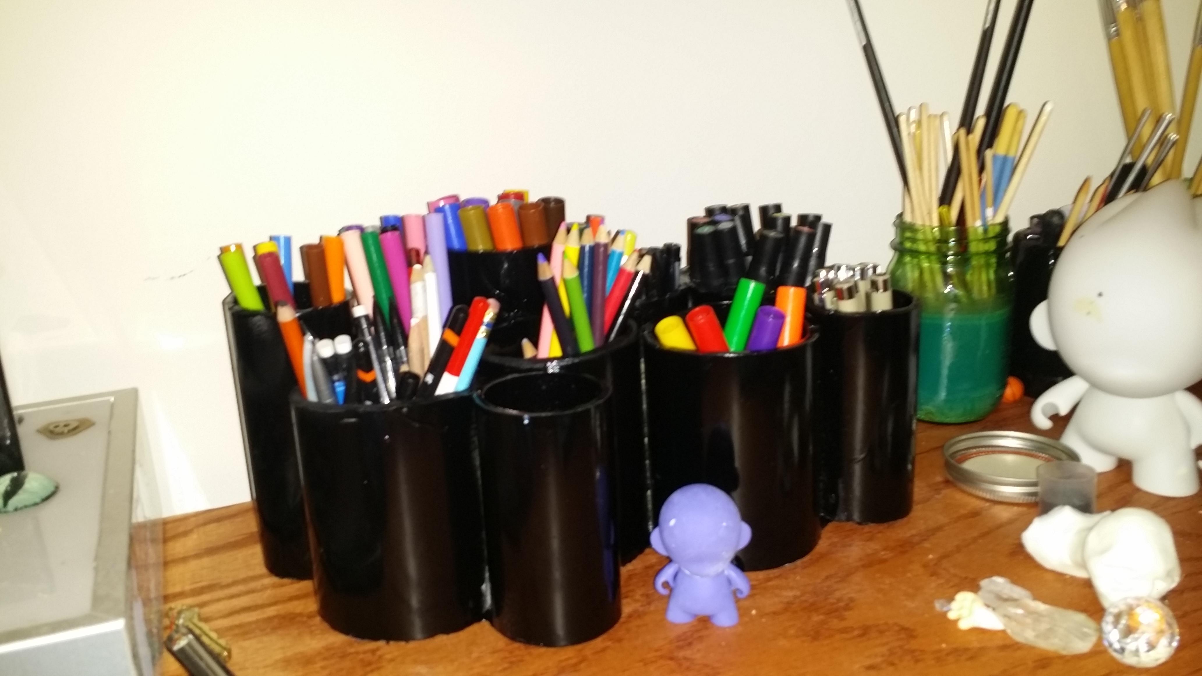 Pvc pen organizer
