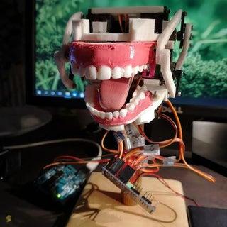 Simple Animatronic Mouth Using 3D Printing, Arduino and Python