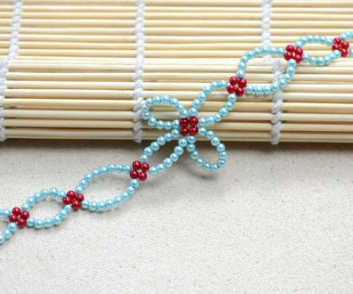 DIY a Woven Bracelet With Small-sized Glass Pearl Beads