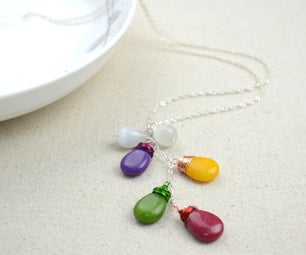 Handmade Pendants Made With Colorful Briolettes- DIY Handcrafted Fine Jewelry