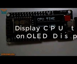 Display CPU TIME on ESP Wemos D1 OLED