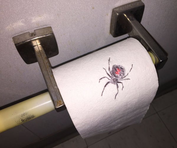 Spider on Toilet Paper Prank
