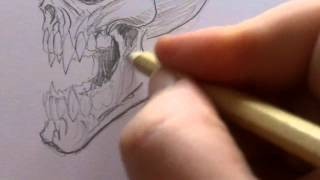 How to Draw a Vampire Skull
