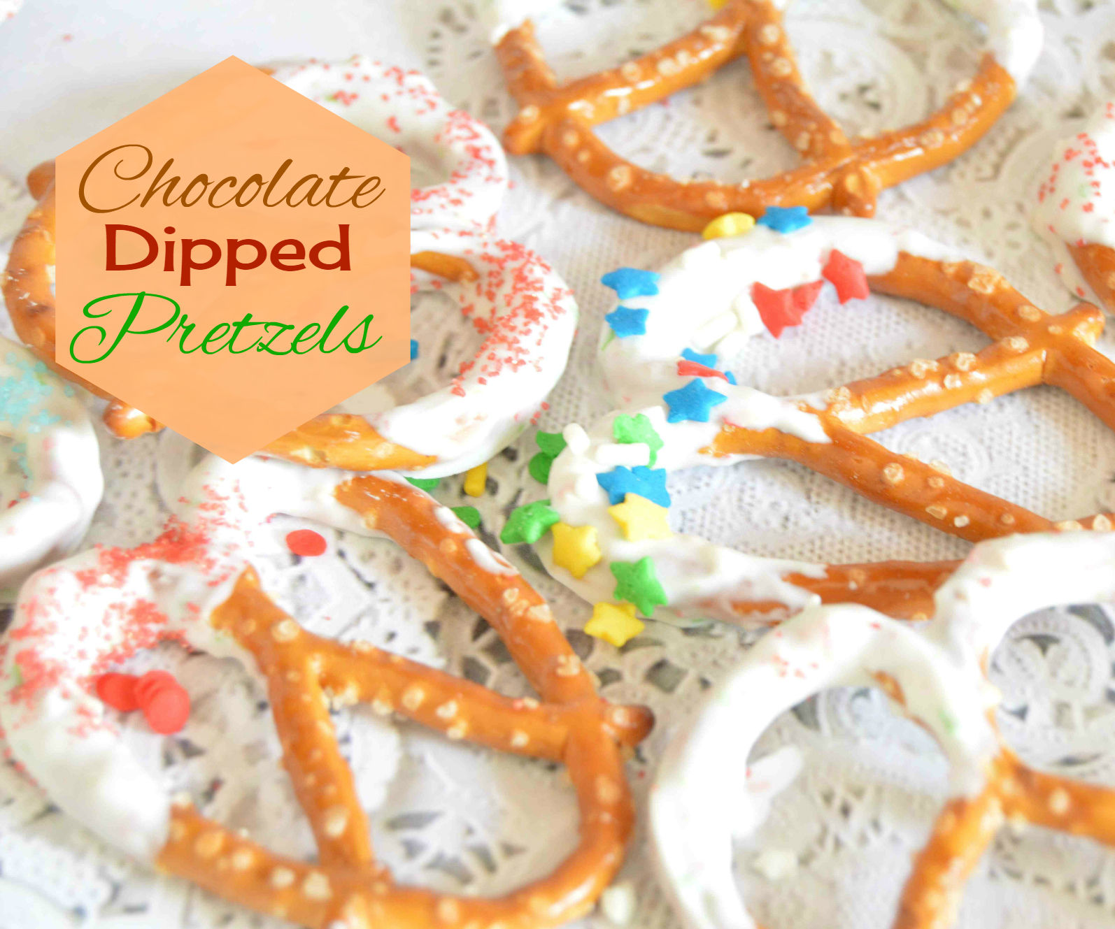 How to make Chocolate Dipped Pretzels - Last Minute Edible gifts