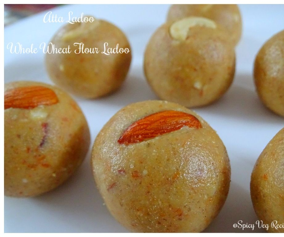 Wheat Flour Ladoo With Coconut | Atta Ladoo Recipe