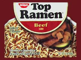 Top Ramen in Microwave